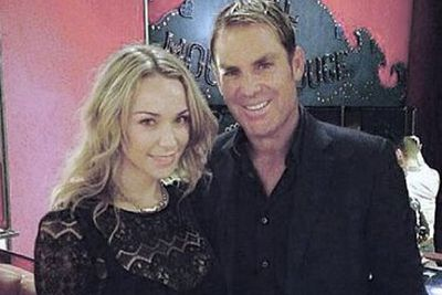 """""""Moulin Rouge Paris.. Thank you.. We had an awesome night @shanewarne23""""<br/><br/>Image: @emilyscottofficial/Instagram"""