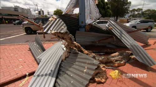 The isolated storm destroyed sheds and tore roofs off. (9NEWS)