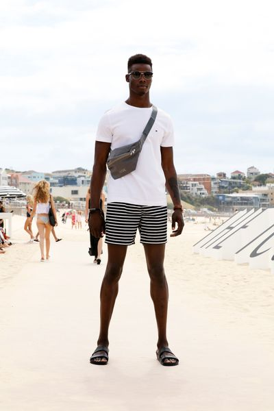 "Shorts: Academy Brand, $69.96 at <a href=""http://www.theiconic.com.au/melrose-trunks-397276.html"" target=""_blank"">The Iconic</a> &nbsp;<br> T-Shirt: Tommy Hilfiger, $49.95 at <a href=""http://www.theiconic.com.au/new-may-crew-neck-tee-223102.html"" target=""_blank"">The Iconic</a> &nbsp;<br> Bag: Wood Wood, coming to The Iconic"