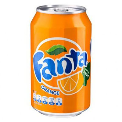 <strong>375ml Fanta can (42 grams of sugar)</strong>