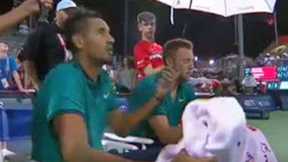 Tennis: 'Busting' Kyrgios throws tantrum over toilet break