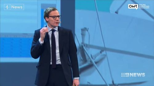 In 2016 the company worked for Donald Trump's campaign. Cambridge Analytica's CEO, Alex Nix, pictured.  (Supplied)