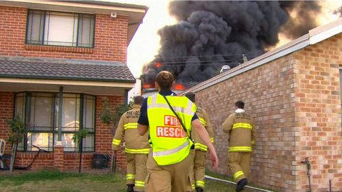 Firefighters are battling a factory fire in south west Sydney.