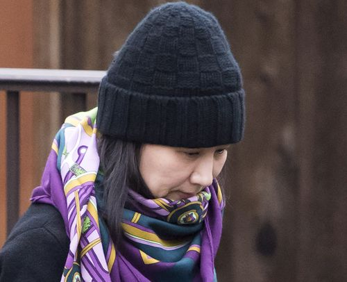 Meng, picutred in Vancouver, has been released on bail pending an extradition hearing to the US on charges of violating sanctions against Iran.