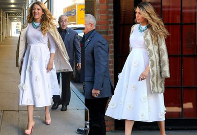 Blake rips (off?) a page from Sarah Jessica Parker's fashion handbook while out and about in NYC.