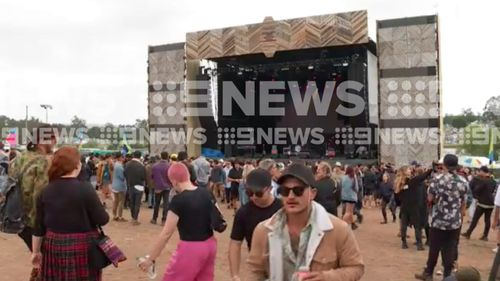 The incident occurred at the Beyond the Valley music festival. (9NEWS)