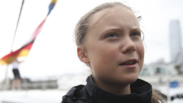 Teenage climate activist Greta Thunberg has made landfall in New York after sailing across the Atlantic.