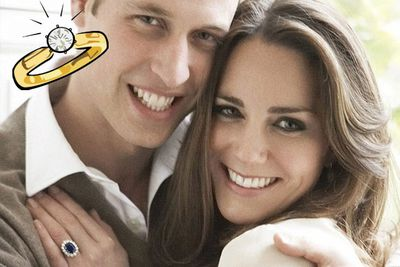 Everyone's new sparkler got upstaged by <b>Kate Middleton's</b> controversial <b>Princess Di</b> hand-me-down from future husband <b>Prince William.</b> Knock-offs of Kate's dress, her ring, and mugs featuring crap portraits of the happy couple hit stores just hours after they announced their engagement.