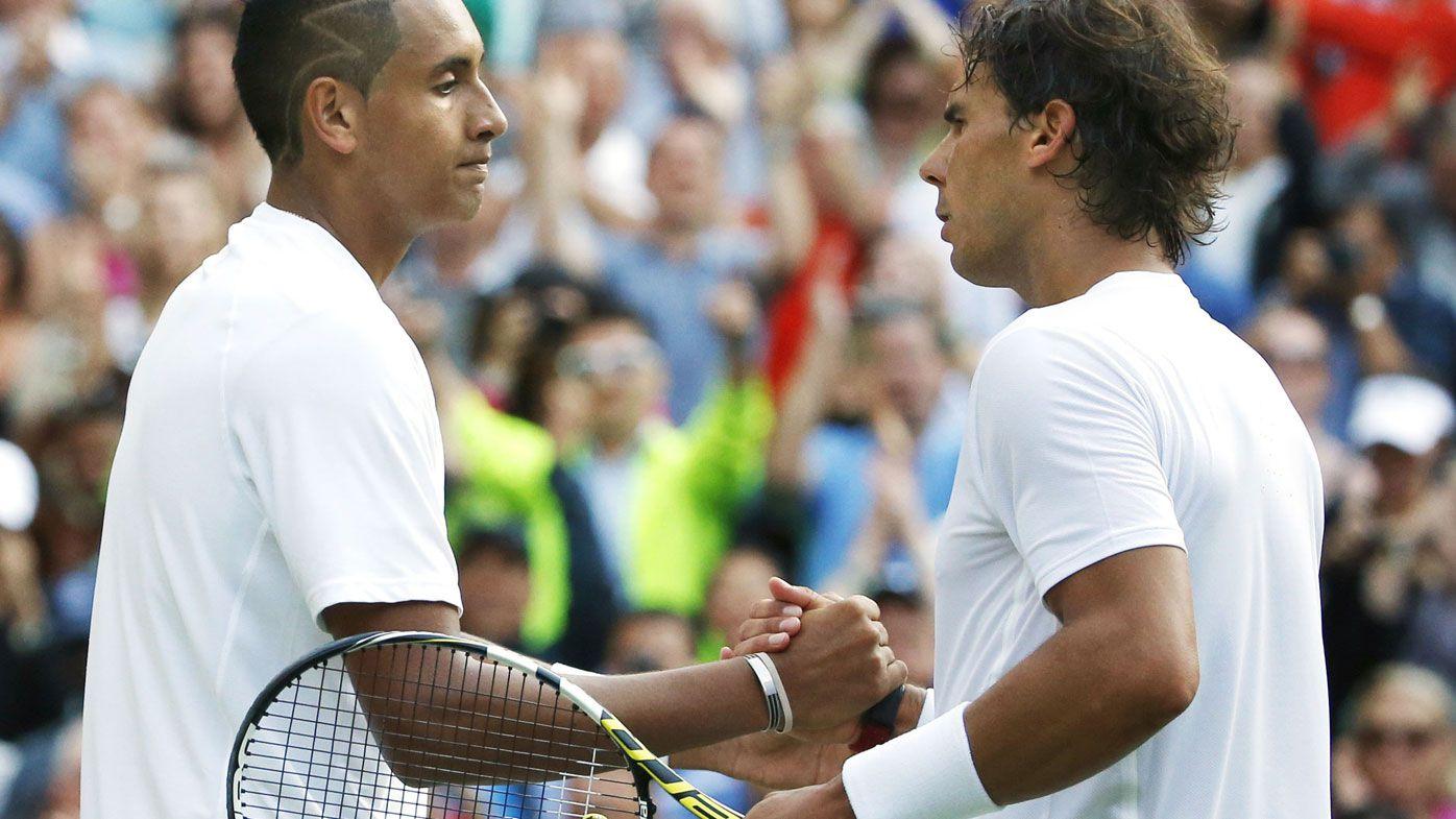Nick Kyrgios downs Rafael Nadal at Wimbledon in 2014