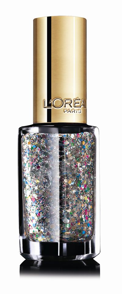 "For an easy, glittery talon sweep this confetti-infused topcoat over your everyday nail polish. <a href=""http://www.chemistwarehouse.com.au/buy/77171/L-Oreal-Color-Riche-Le-Vernis-Top-Coat-916-Confettis"" target=""_blank"">L'OréalParis Colour Riche Le Vernis Top Coat in Confettis 916, $7.95.</a>"