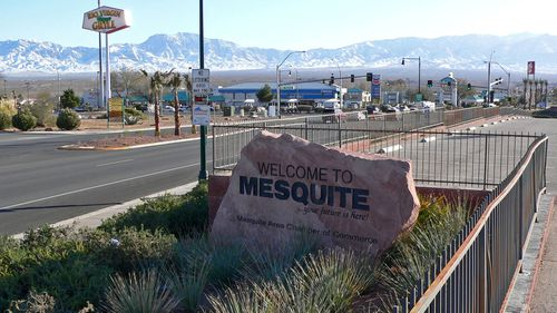 Gunman Stephen Paddock is understood to have lived in Mesquite, Nevada (Stan Shebs).