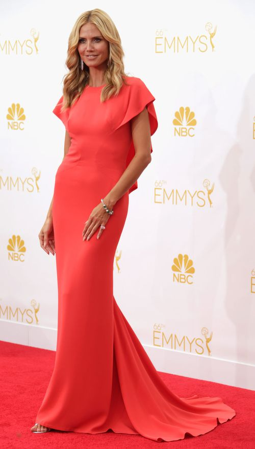 Heidi Klum on the red carpet. (Getty Images)