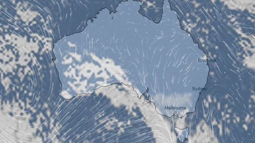The wild winter weather comes as a cold front passes over Australia's south-east.