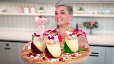 Jane de Graaff makes slanted Christmas jelly jar trifle