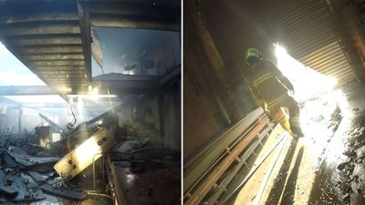 Footage shows fire destruction in Sydney building