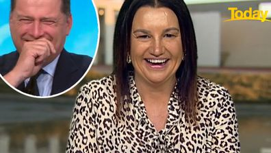 'Oh, my god': Jacqui Lambie makes Karl Stefanovic blush with candid admission