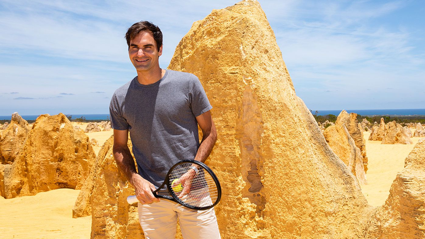 Roger Federer at the Pinnacles