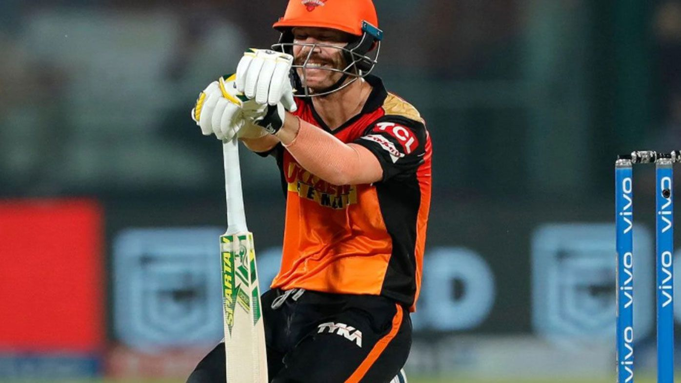 David Warner in action for Sunrisers Hyderabad earlier in the tournament.