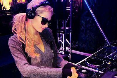 Paris Hilton got her DJ on at the Leather & Lace Super Bowl pre-game party...