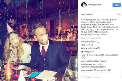 """<p>He makes his love for Blake perfectly clear - and his little ones too, but he's real with it at the same time.</p> <p>""""Best. Birthday. Everrrrr. Courtesy of my wife, buddy and international spy @blakelively.""""</p> <p>There's even a special shout out to the couple's children for, 'not ruining everything like they planned'.</p>"""