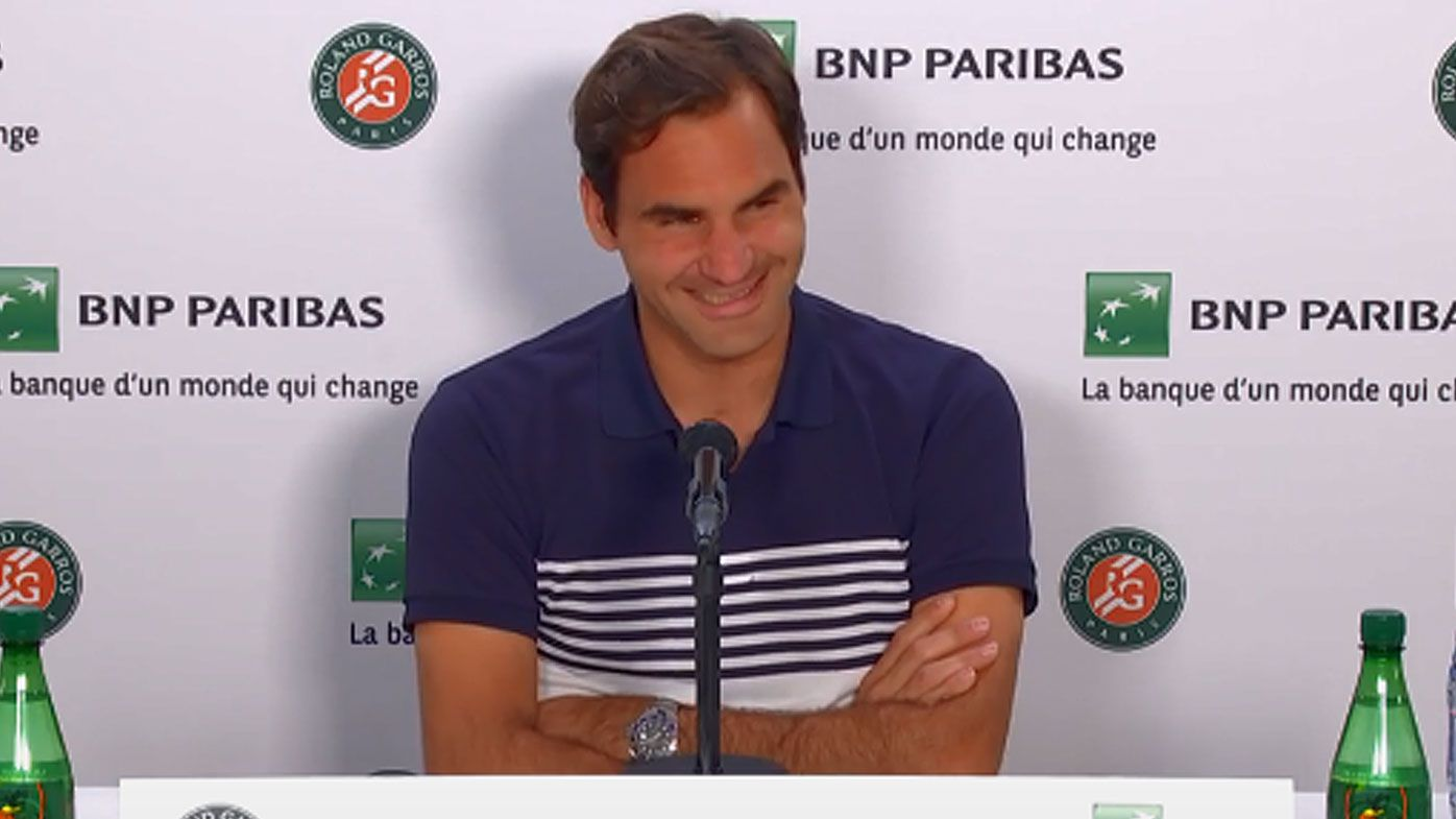 Roger Federer blindsided by reporter's bizarre question at French Open