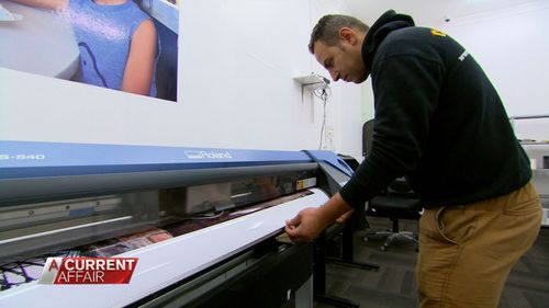 Signwriter Jamie Mahmood has been able to start his own business.