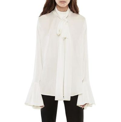 "Ellery pussy-bow blouse in Silk, $1015 at <a href=""http://shop.davidjones.com.au/djs/ProductDisplay?catalogId=10051&amp;productId=10104502&amp;langId=-1&amp;storeId=10051"" target=""_blank"">Davidjones.com.au</a>"