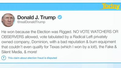 US President Donald Trump continues to tweet about widespread election fraud, despite having an evidence.
