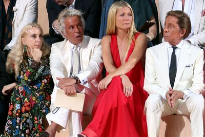 <p>Franca Sozzani, Giancarlo Giammetti, Gwyneth Paltrow and Valentino Garavani.</p>