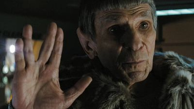 Nimoy delighted fans by appearing as an older version of his iconic character in JJ Abrams' 2009 and 2013 reboots of the franchise. (Supplied)
