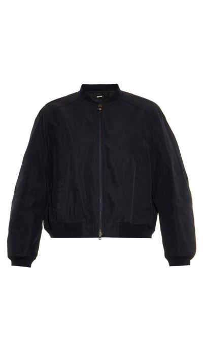 "<a href=""http://www.matchesfashion.com/intl/products/Jil-Sander-Navy-Twill-bomber-jacket-1001327"">Twill Bomber Jacket, $758.53 approx, Jil Sander Navy</a>"