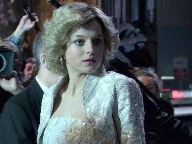 Emma Corrin as Princess Diana in The Crown Season 4.