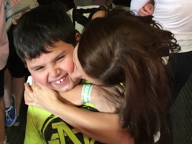 Jo Abi with her son Giovanni ASD