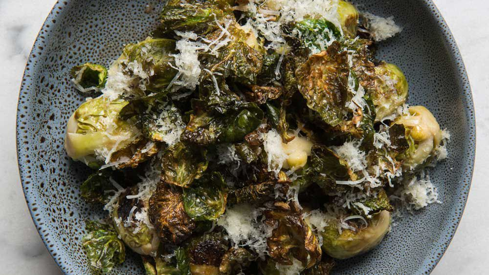 Pan fried brussel sprouts