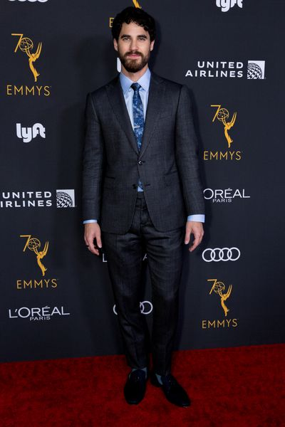 Actor Darren Criss attends the Television Academy Honors Emmy Nominated Performers Reception event held in Beverly Hills. Criss is nominated for the 'Lead Actor in a Limited Series or Movie' award for his role in The Assassination of Gianni Versace: American Crime Story .