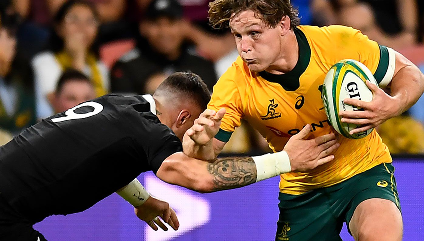 Captain Michael Hooper in action for the Wallabies.