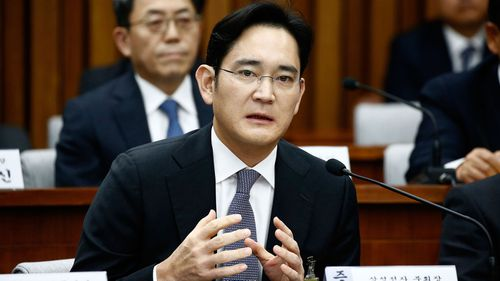 Lee Jae-Yong, vice chairman of Samsung answers questions during a parliamentary hearing. (Photo by Jeon Heon-Kyun-Pool/Getty Images)
