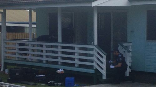 Police at the Waterford property. (Twitter / @PhilWillmington)