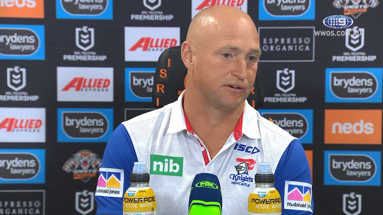 Nathan Brown says Newcastle's performance against Tigers shows why he won't be there next year