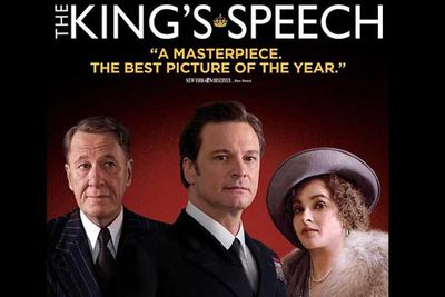 "<b>Why you should see it?</b> ""It could have been a bunch of pip-pip, stiff-upper-lip Brit blather about a stuttering king who learns to stop worrying and love the microphone. Instead, <i>The King's Speech</i> — a crowning achievement powered by a dream cast — digs vibrant human drama out of the dry dust of history."" - <i>Rolling Stone</i>"