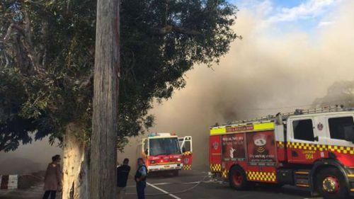 Twenty firemen from four crews responded to the scene. (9NEWS)