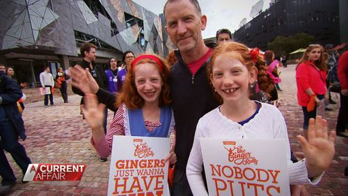 """""""Ginger pride"""" rallies have attracted crowds in Australian cities."""