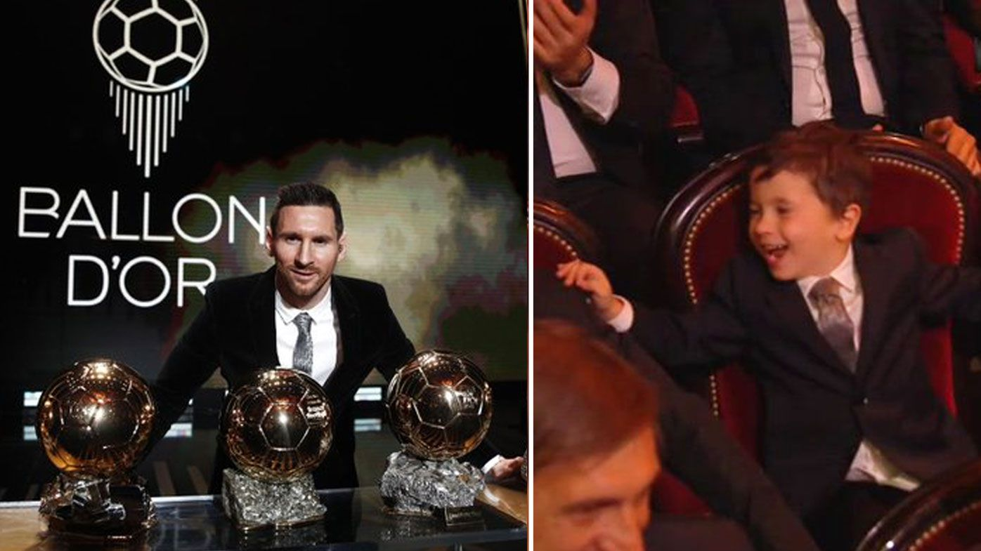Lionel Messi's son steals show at Ballon d'Or ceremony, US star pips Sam Kerr