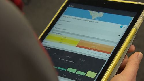 An app that monitors air quality and sends personalised health alerts has been launched in the Northern Territory.