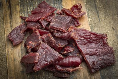 <strong>Beef jerky (2,081mg of sodium per 100 grams)</strong>