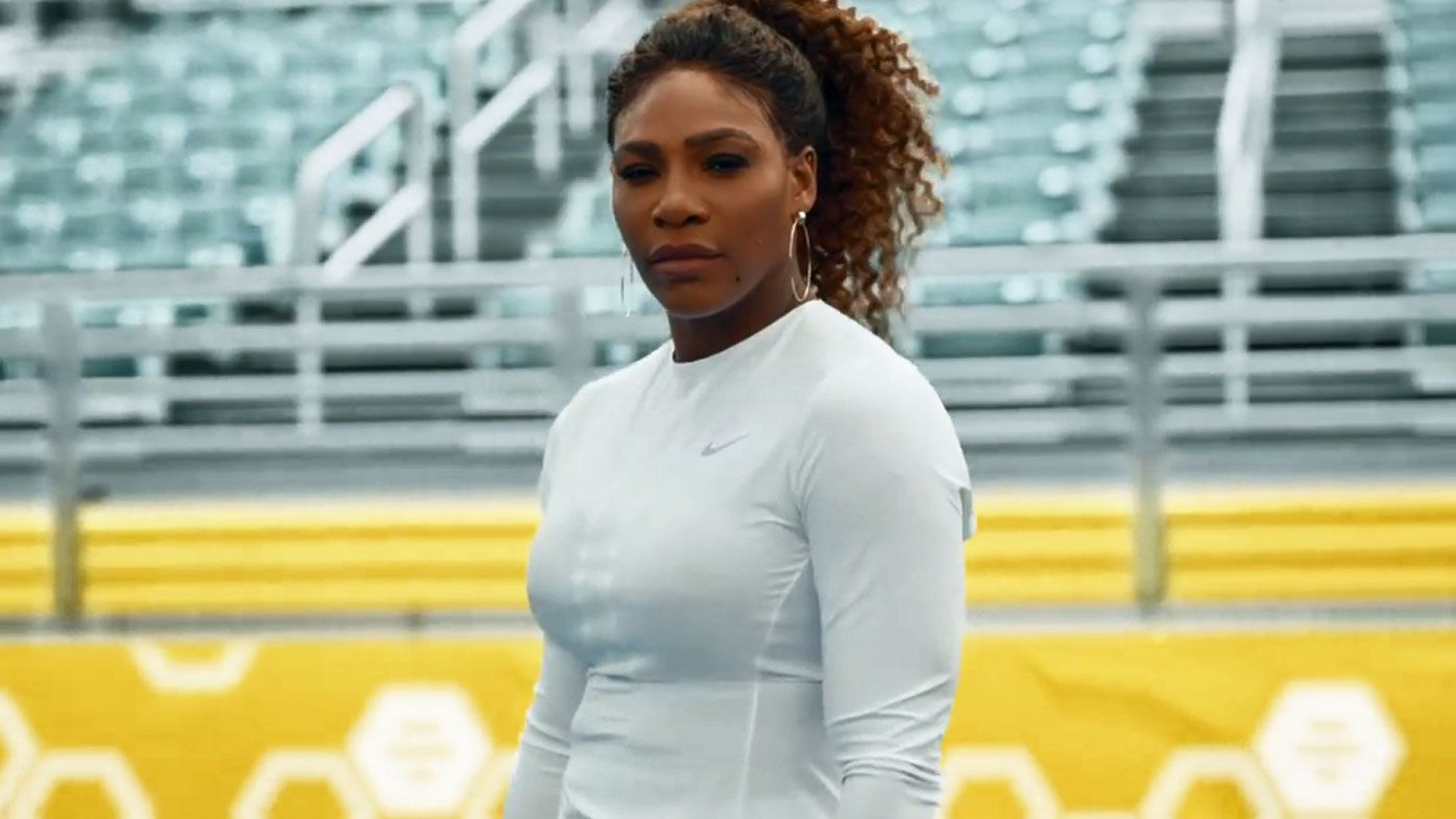 Serena Williams in Super Bowl ad for Bumble