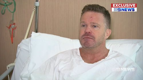Sydney man Anton Constantine, 43, is one of the first in the world to receive a new ceramic hip in a pilot study.