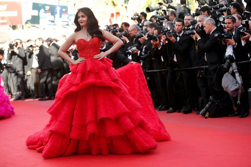 """Khan had a relationship with fellow Bollywood star Aishwarya Rai, who said """"when we fight, it is all because of our love"""". (AAP)"""