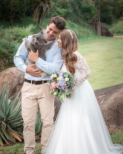 Bindi Irwin, Chandler Powell, wedding, Australia Zoo, 2020