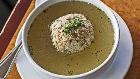 Matzo dumpling soup